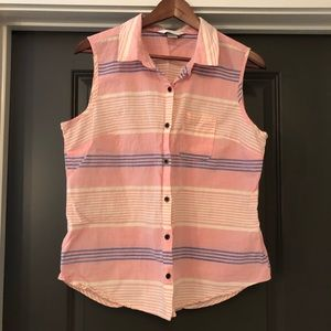 Christopher & Banks Tank Top Size LP Women's Pink